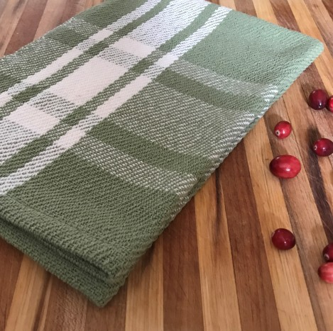 Sage plaid with cranberries