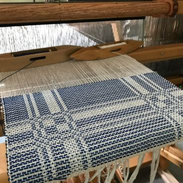 Blue potager on the loom.jpg