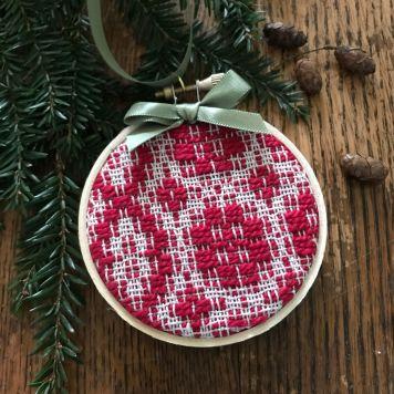 """""""Snowballs"""" overshot ornament"""