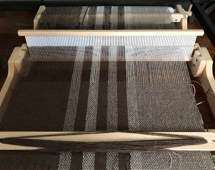 A big piece on a little loom