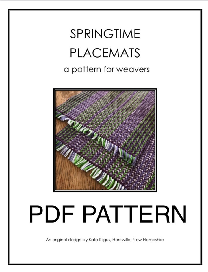 Placemat pattern Etsy listing