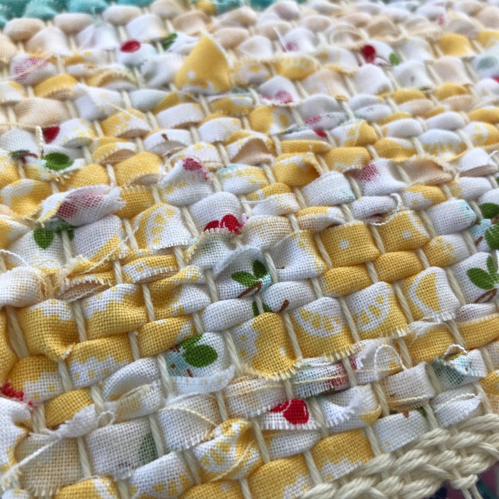 Yellow weft face weaving