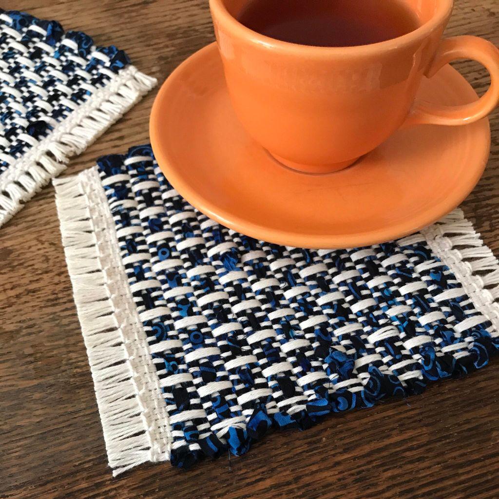 Batik mug rugs