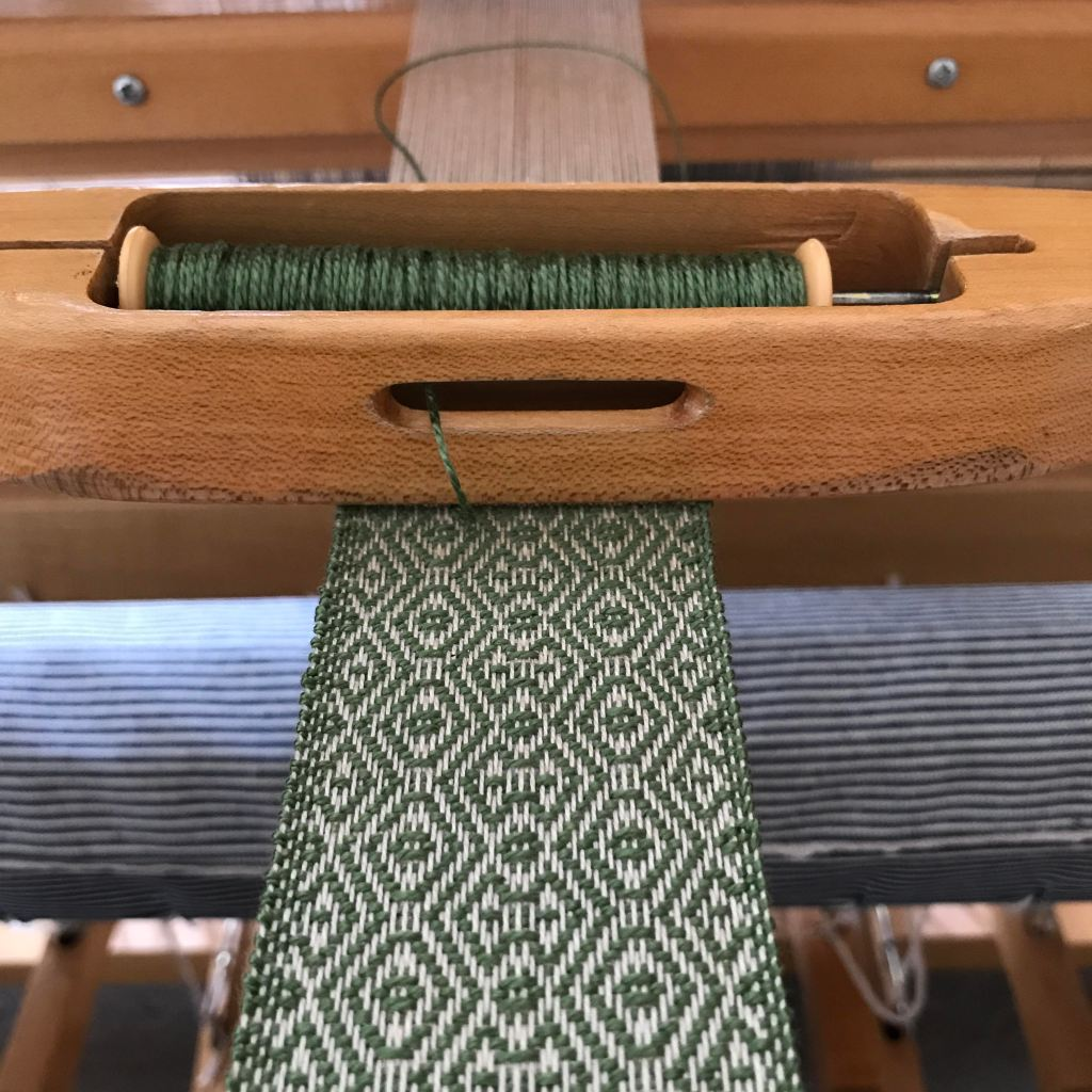 Bookmark on the loom for 2020 League of NH Craftsmen Virtual Fair.